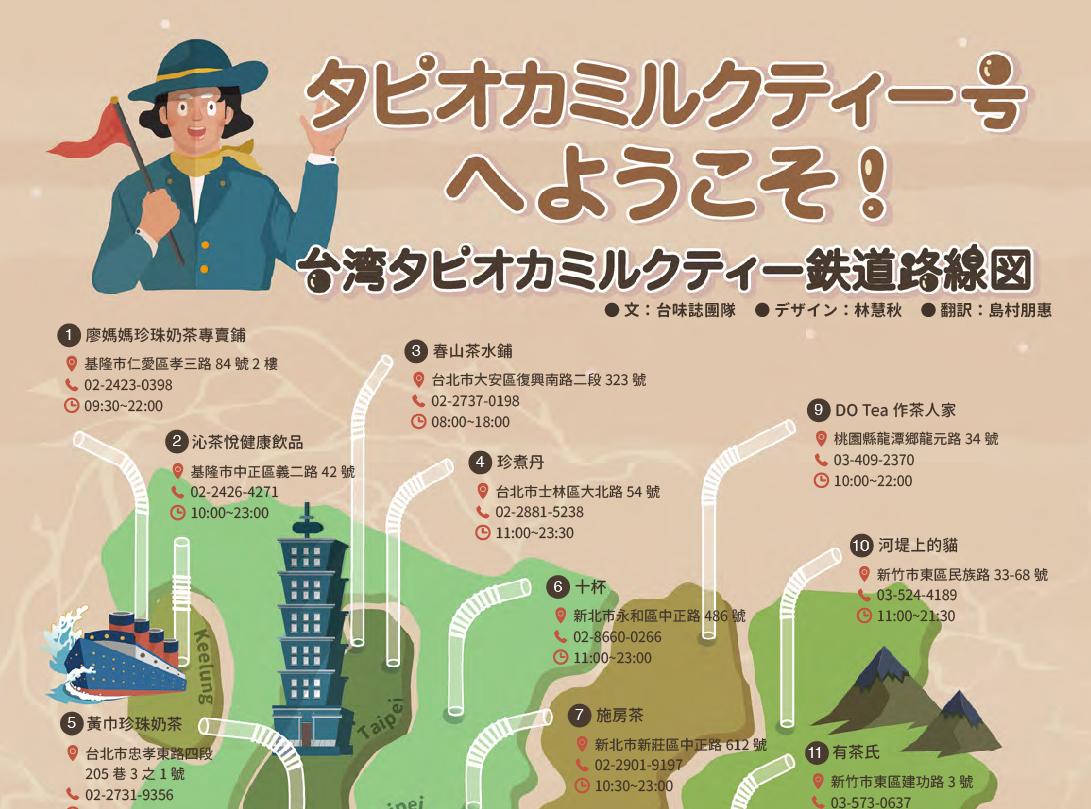 Infographic Design|《台味誌 No.03》台灣珍珠奶茶地圖